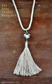 diy necklace with rope images Silver rope tassel necklace jpg