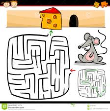 cartoon maze or labyrinth game royalty free stock photo image