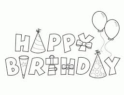 template happy birthday card printable coloring page free