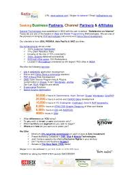 Seeking 1 Channel Seeking Business Partners Channel Partners Affiliates At Satisnet
