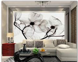 high quality hand painted wall murals promotion shop for high beibehang 3d wallpaper hand painted flowers black and white purple hand painted mural tv wall background wallpaper for walls 3 d