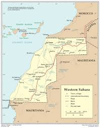 Map Of West Africa by Western Sahara Map Western Sahara Africa U2022 Mappery