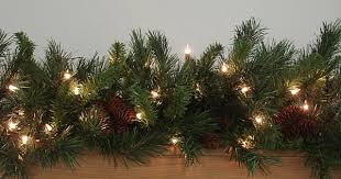 christmas garland with lights 9 x 14 pre lit cheyenne pine artificial christmas garland clear