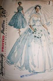 vintage wedding dress patterns vintage sewing pattern 1950s big poufy wedding dress skirt