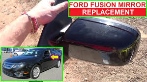 ford focus wing mirror parts how to remove and replace the side view mirror on ford fusion