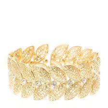 gold leaf bracelet images Gold leaf design stretch bracelet claire 39 s jpg
