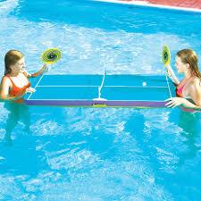 Ping Pong Pool Table Swimline Floating Pool Pong Table Game