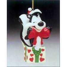 pepe le pew happy holidays ma cherie ornament