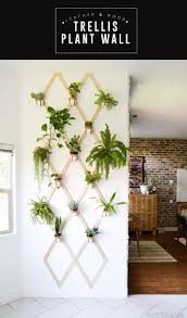 home decor plant diy wood and leather trellis plant wall boho plants and tutorials