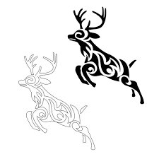 tribal deer tattoo designs images pictures becuo clip art library
