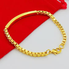 aliexpress buy new arrival fashion 24k gp gold wholesale price 24k gp men s jewelry gold color 4mm box chain