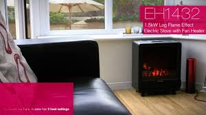 eh1432 prem i air 1 5kw log effect electric stove with fan