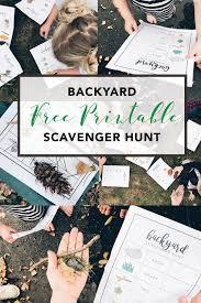 kids backyard forest themed scavenger hunt free printablecreative