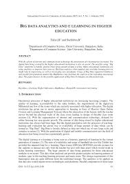 Mongodb Map Reduce Big Data Analytics And E Learning In Higher Education Pdf