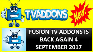 fusion tvaddons is back again 4 september 2017 fusion tvaddons