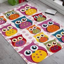 tapis de chambre enfant tapis pour chambre enfant fille hibou pas cher