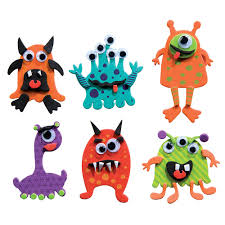 mini foam monster magnets kit shop geddes