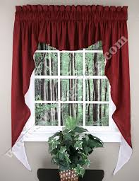 3 Piece Curtain Rod Captivating Swag Valance Curtains And Country Curtains Curtains