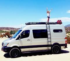 camper van divorced dad and his two young daughters convert a camper van and