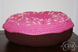donut pillow colorful christine