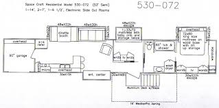 Small Rv Floor Plans Floor Plan With Slide Outs For 53 U0027 Semi Trailer How Awesome Is