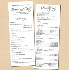 classic white wedding programs 4 25x11 text editable