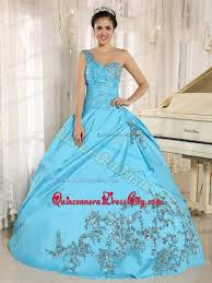 baby blue one shoulder dress for quinceanera with appliques 2013