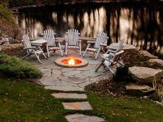 Rustic Landscaping Ideas by Rustic Style Fire Pits Hgtv
