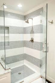 shower floors chic white and black bathroom features a walk in
