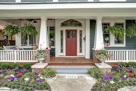 oklahoma city front porch columns exterior craftsman with pillar