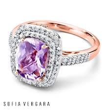 rose gold amethyst diamond ring sofia vergara ring amethyst diamonds 10k rose gold fashions for