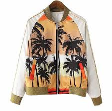 palm tree baseball jacket for raglan sleeve sweatshirt