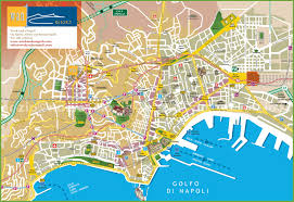 Map Of Italy by Naples Tourist City Centre Map