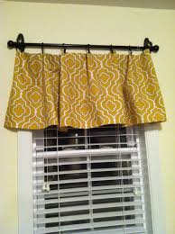 picture only diy no sew valance hung with command hooks and