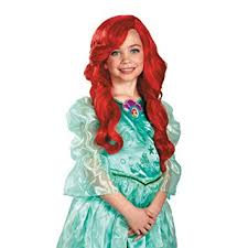 amazon disney princess mermaid ariel child wig
