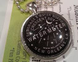new orleans water meter necklace new orleans necklace etsy