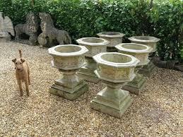 garden planters uk poly terrazzo large white trough planter rattan