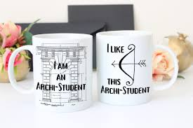 Home Decor Gift Ideas Gift For Architect Architecture Gifts Architectural Mug Set