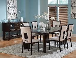 Rectangle Glass Dining Table Set Amazon Com Delano Table W 18 In Leaf U0026 Cracked Glass Insets In