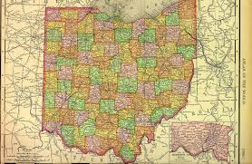 Map Of Ohio State by Colorful Map Of The State Of Ohio Usa In 1895 Divided By