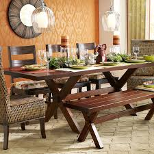 Marchella Table by Nolan Extension Tuscan Brown Trestle Table Pier 1 Imports