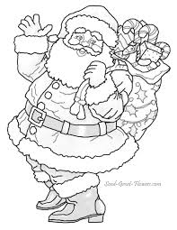 superb colouring pages santa colouring pages 12 christmas