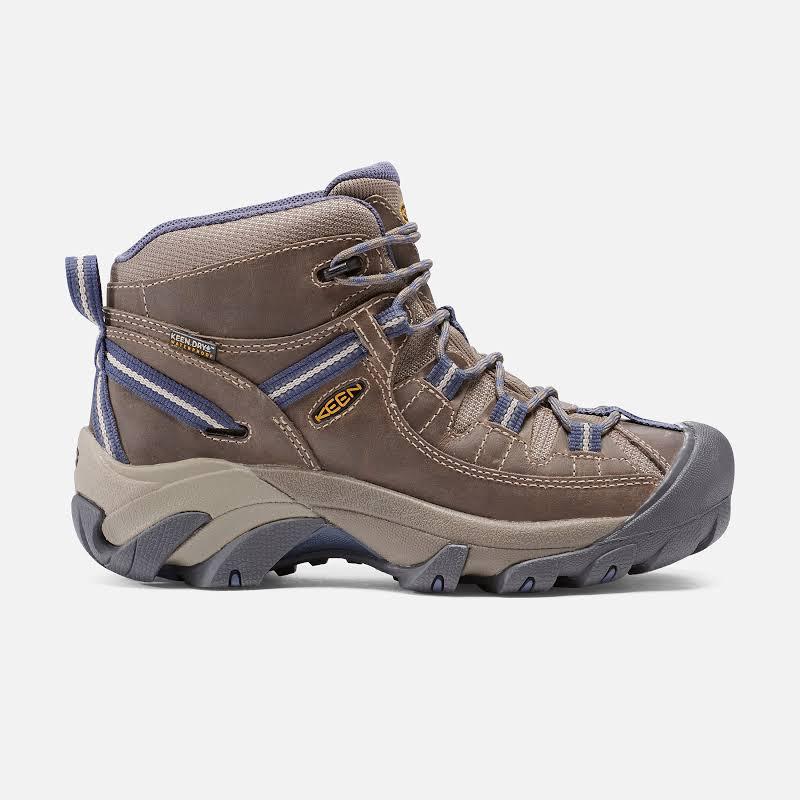 KEEN Targhee II Mid Waterproof Hiking Boots Goat/Crown Blue Medium 9 1016581-200-9