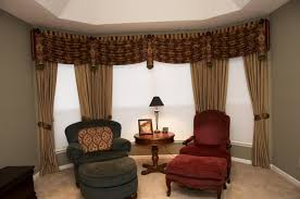 classy window coverings for large windows with brown curtain and dry plus blinds combined with comfy