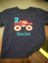 monster truck shirt boys birthday shirt roundthebendagain