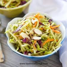 paleo broccoli slaw a healthy vegetable side dish with almonds