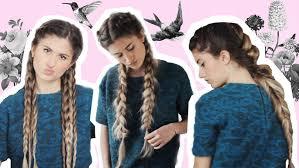 leo braiding hair 3 easy long hair braided hairstyles youtube