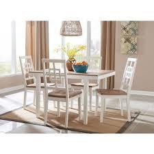 brovada 5 piece dining room set signature design furniture cart