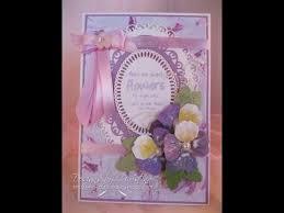Card Making Magic - spellbinders create a flower pansy card making magic com youtube