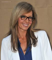 allison janney u0027s professional look with glasses and long straight hair